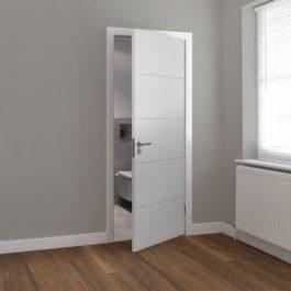 5 Panel white door