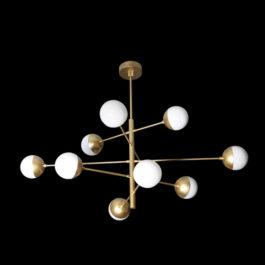 Light Large Spiral Tier Pendant